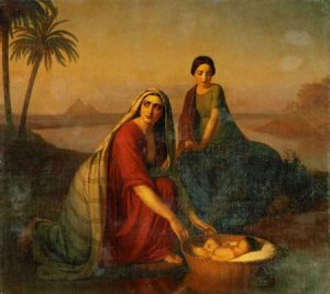 Moses lowered by his mother into the Nile, 1839-42 Alexey Tyranov